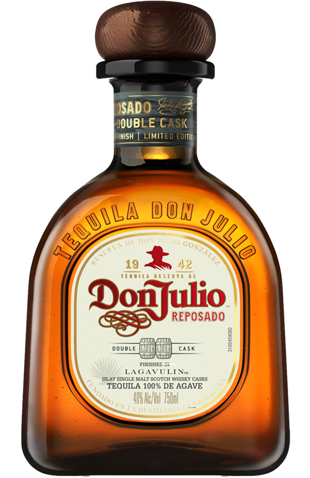 Bottle of Don Julio Reposado Double Cask Lagavulin Aged Edition