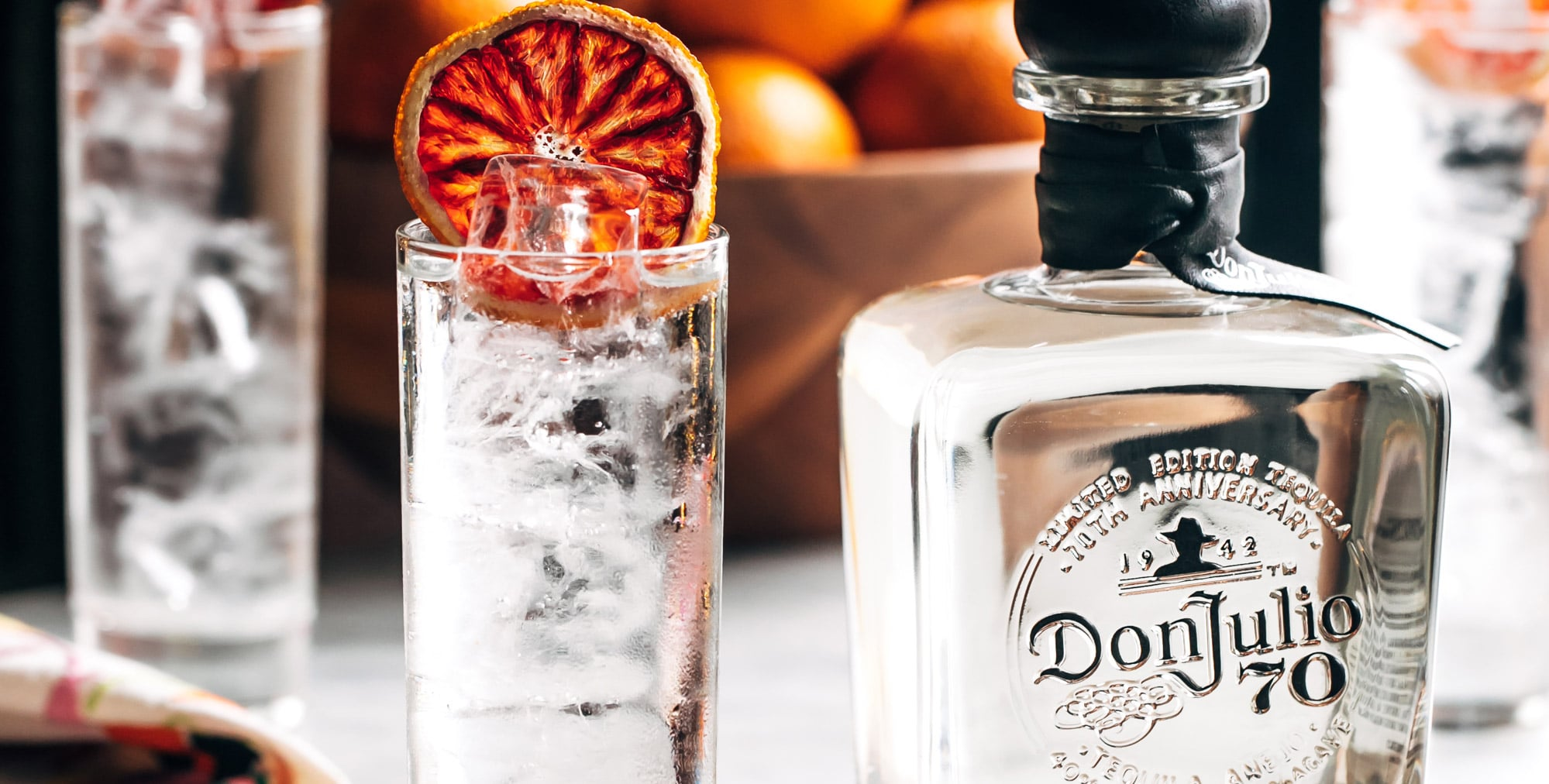 Glass of Don Julio 70 & Soda made with Don Julio 70 Anejo Claro Tequila