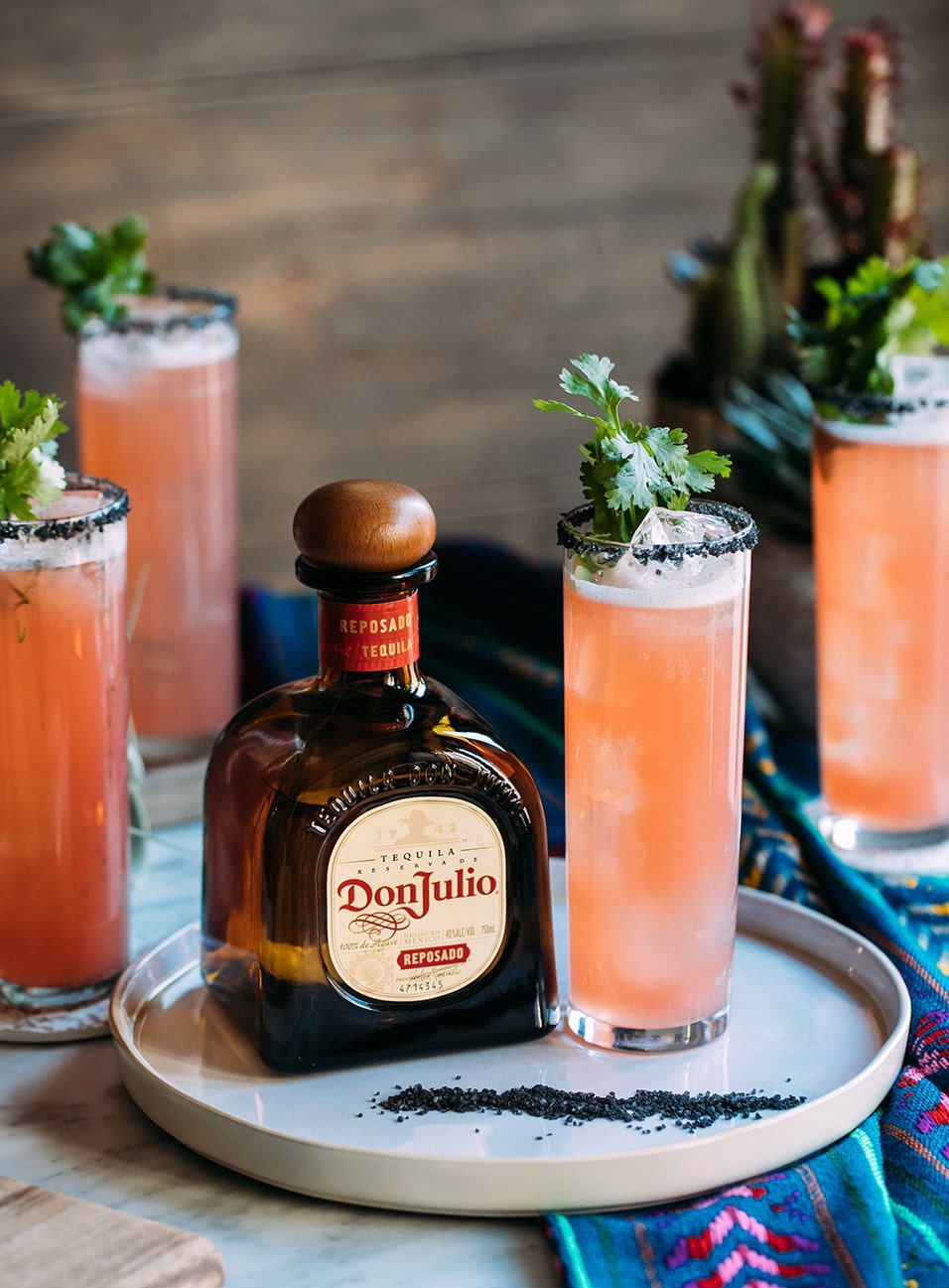 Glass of Cilantro Paloma made with Don Julio Reposado Tequila