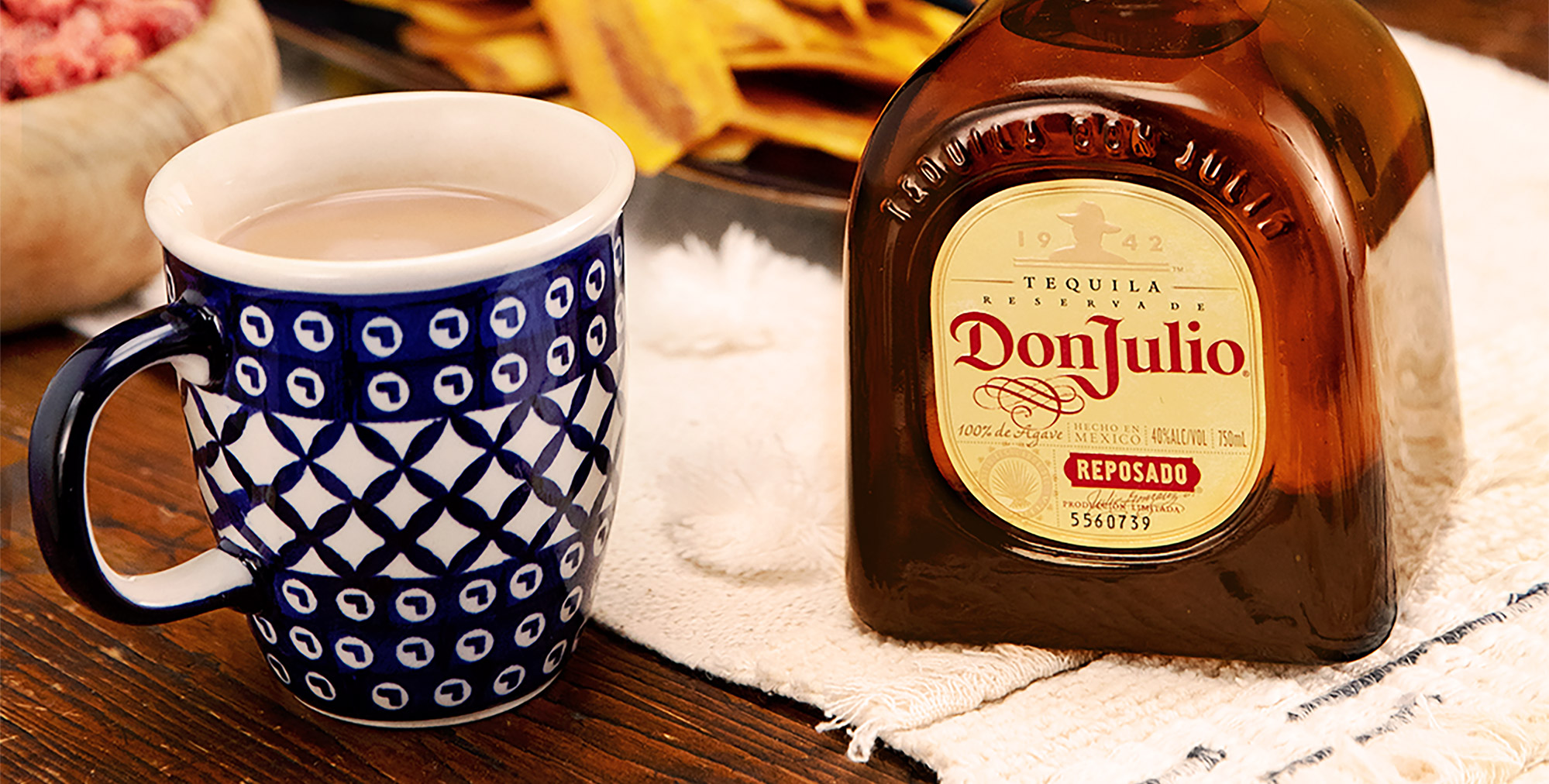 Mexican Hot Chocolate drink made with Don Julio Reposado Tequila