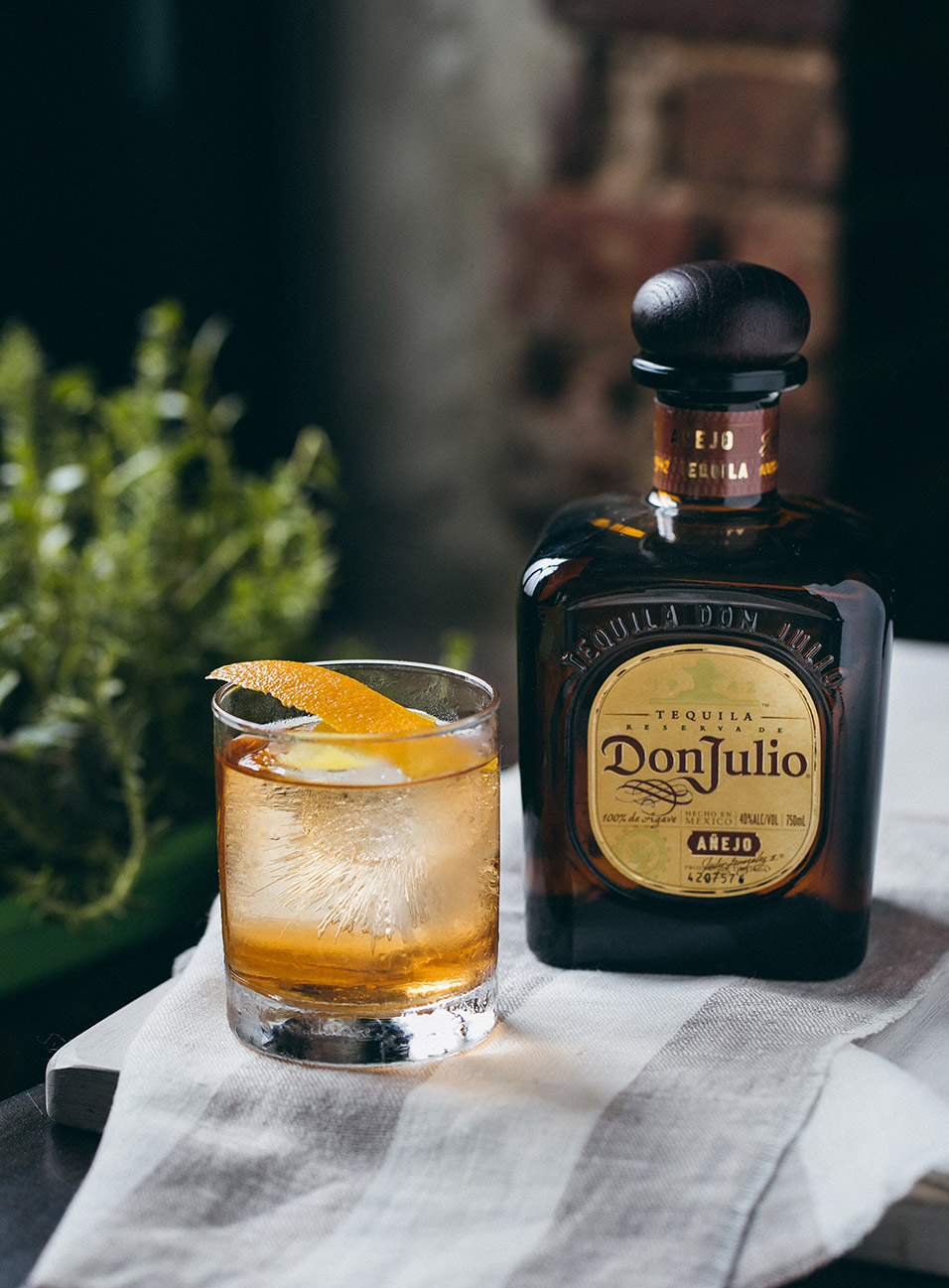 Old Fashioned made with Don Julio Añejo Tequila