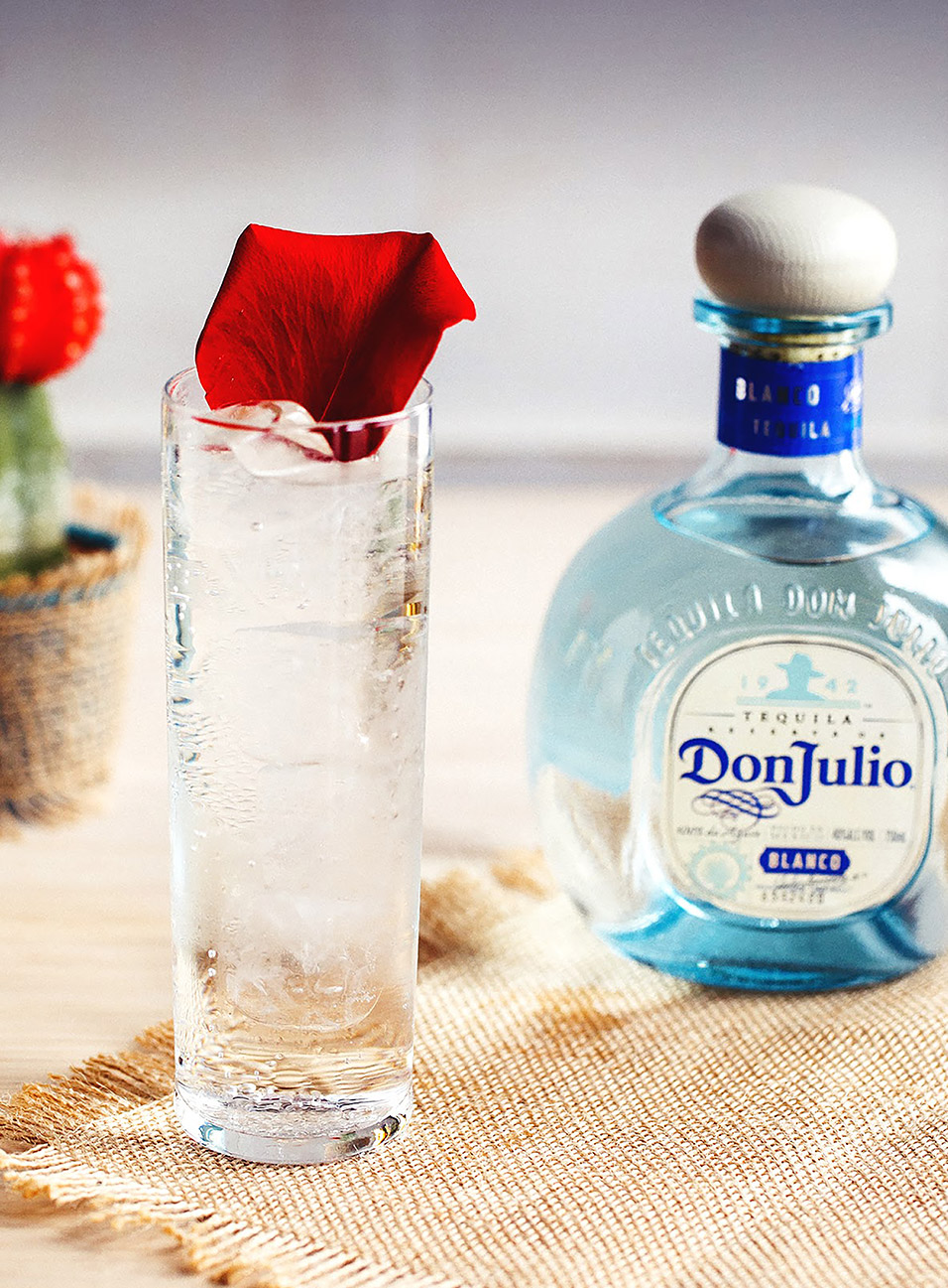Rose Quartz cocktail made with Don Julio Blanco Tequila